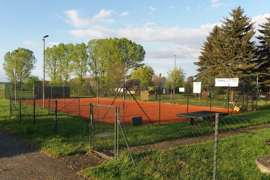 Die Tennisanlage vom Verein