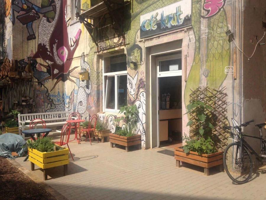 Der neue barrierefreie Zugang zum Cafe