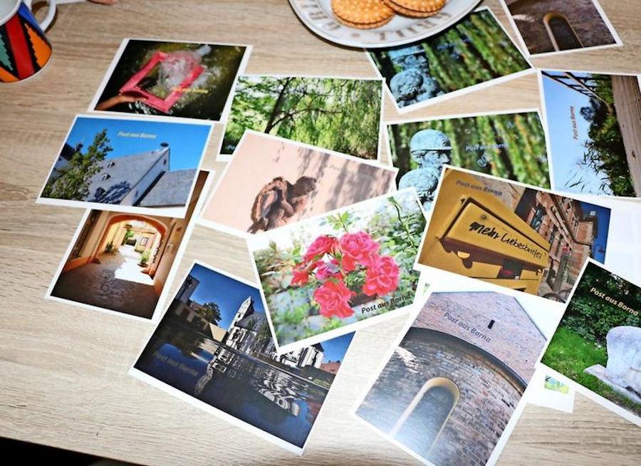 Die Postkarten mit anderen schönen Sehenswürdigkeiten