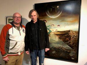 Die beiden Künstler Jens Rockrohr und Thorsten Fink.