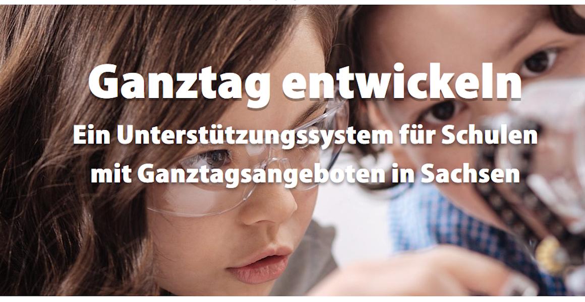 Die Startseite des Unterstützungssystems für Schulen mit ganztagsangeboten in Sachsen